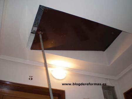 Trampilla acceso al tejado